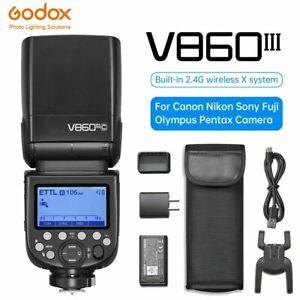 GODOX V860III 2.4G E-TTL HSS Flash Light Speedlite w Xpro X2T Trigger For Camera