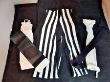 Nos Black White Mime Halloween Costume Fishnet Armbands 2 Tone Tights Punk Pants