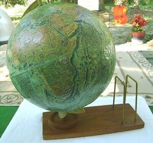 "Vintage Replogle Globe ""World Ocean Series"" 12"" Wood Stand*USSR*LeRoy Tolman*"