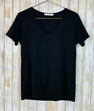 RAG & BONE Black Short Sleeve V Neck Soft Top Shirt Tee S Small
