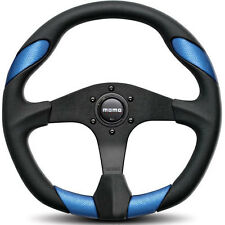 MOMO STEERING WHEEL: QUARK (350mm/BLACK/BLUE) QRK35BK0BU
