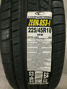 1 New 225 45 18 Cooper Zeon RS3-A Tire