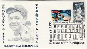 USA 1995 BABE RUTH BIRTH CELEBRATION COVER POSTED BIRTHPLACE