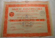 ELECTRO CABLE 1936 @ SUP DECO ROUGE @