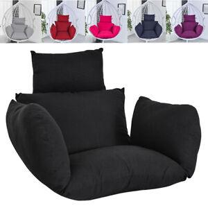 Patio Rattan Swing Egg Chair Cushion Indoor Outdoor Hanging Basket Seat Pad Mat