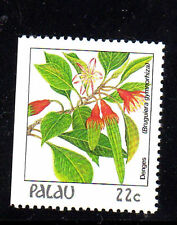 PALAU  #132  1987-88  FLOWERS  MINT  VF NH  O.G  BOOKLET SINGLE   c