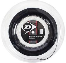 Dunlop Black Widow 18 Tennis String Racket Reel Black 1.21mm/18G/200m