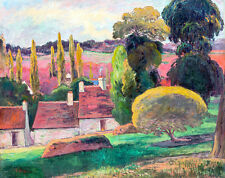 A Farm in Brittany by Paul Gauguin 75cm x 59.3cm High Quality Art Print