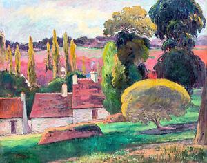 A Farm in Brittany by Paul Gauguin 75cm x 59.3cm High Quality Art Print