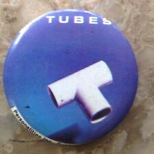"""VINTAGE 1-1/4"""" ROUND 1980's PIN - THE TUBES - Excellent Condition - RARE - NICE!"""