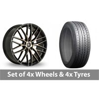 "4 x 19"" AC Wheels Syclone Black Alloy Wheel Rims and Tyres -  225/45/19"