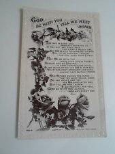 """Old Nostalgic Postcard """"GOD BE WITH YOU TILL WE MEET AGAIN"""" Beagles 982.M §A1250"""