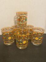 Culver Vintage Southwestern High Ball Glasses Tumblers Set Of 6 EUC
