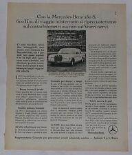 Advert Pubblicità 1967 MERCEDES 250 S W108