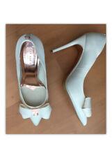 Ted Baker Bridal Ivory White Court Shoes Rose Gold Motif Sz 7.5 40.5 BnwoB