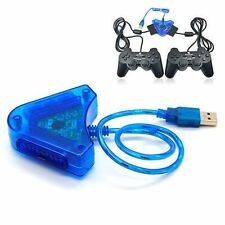 Dual PS1 PS2 PSX Controller Game Console Joystick To PC USB Converter Adapter 8@