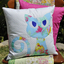 Ali's Cat Pillow / Cushion ~ Cute Sassy Kitten Applique Pattern ~ Claire Turpin