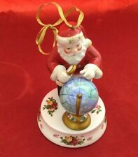 Royal Albert Old Country Roses Santa Christmas Ornament