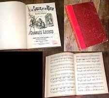 Le coeur et la main opéra-comique en 3 actes partition piano chant 1900 Lecocq