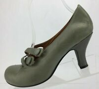 Jeffrey Campbell Pumps Patricia Classic Gray Leather Woven Dress Heels Womens 7
