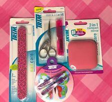 TRIM Lot of 4 Personal Care Items Tweezers Nail File 2-in-1 Mirror Lash & Brow