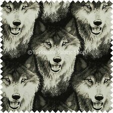 10 Metres Of New Wolf Pack Animal Inspired Pattern Designer Furnishing Fabric