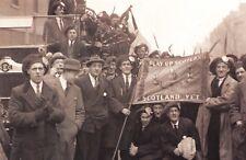 Nostalgia Postcard Scotland Football Supporters at Highbury 1921 #N336