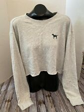 Womens Victorias Secret PINK Crop Top Long Sleeve Size Large NWT