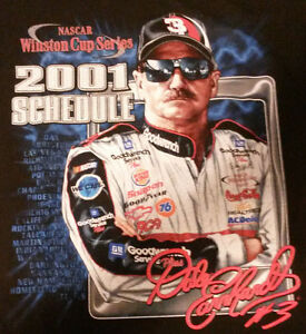 Chase Authentics Dale Earnhardt Nascar T Shirt Winston Cup Series 2001 Medium