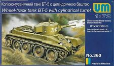 Unimodels No. 360 - Wheel-track tank BT-5 with cylindrical turret