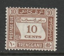 Trengganu 1937 10c Brown SG D4 Mint.