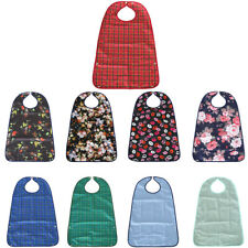Waterproof Adult Bibs Protector Disability Dining Aid Clothes with Pocket