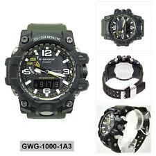 Casio G-Shock MUDMASTER Mens Analog-Digital Sport Green Band GWG-1000-1A3