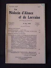 Le médecin d'Alsace et de Lorraine - N°10