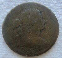 1802 1C BN Draped Bust Large Cent Fine Detail Full Date Chocolate Brown Digs