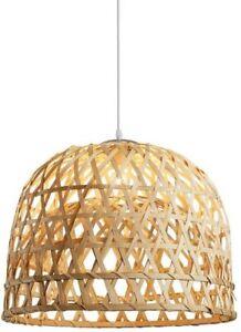 "Berlato Pendant Light Hand-Woven from Bamboo Chandelier 13"" x 8.7"""