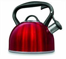 Cuisinart Tea Kettle💖 2 Quart Metallic Red Stainless Steel Stovetop New In Box