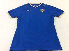 Puma Italia Italy Soccer Figc Futbol Mens Small Dark Blue Shirt