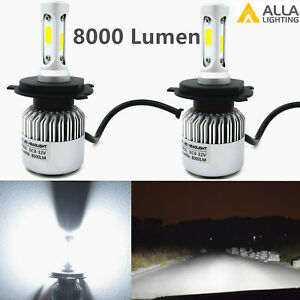 Alla Lighting 8000lm H4 9003 hd-light  hi   & lo  Beam Bulbs Lamps Xenon White