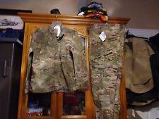 SET ARMY MULTICAM COMBAT SHIRT & PANT MEDIUM X LONG  NEW WITH TAG  MXL NWT