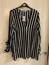 George Bnwt Navy & White Striped Top Size 12