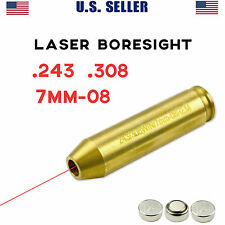 .243 .308 7mm-08 Rem LASER BORESIGHT For Zeroing In Rifle Gun Scope Bore Sight