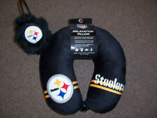 """""""Pittsburgh Steelers"""" Relaxation Neck Pillow & Ear Muffs"""