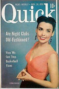 Pocket Magazine--Quick Nov. 51 cover Lena Horne-----354