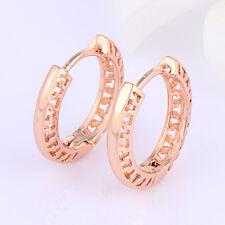 Lovely Gorgeous Womens 18K Rose Gold Filled Hoop Earrings Earings