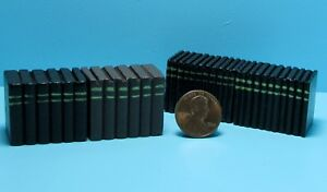 Dollhouse Miniature Wood Faux Book Stacks for Book Shelves 4 Pieces T8004