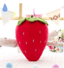 Red Strawberry Pillow Funny Fruit Pillow Stuffed Plush Sofa Home Decoration 25cm