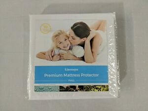 Linenspa Mattress Protector Waterproof Hypoallergenic Vinyl Free Smooth Top Full
