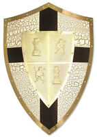 Framed Print - Richard the Lionheart Medieval Gold Shield (Picture Art Knight)