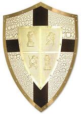 Encadrée Imprimer-Richard Coeur de Lion Bouclier médiéval gold (photo art Knight)